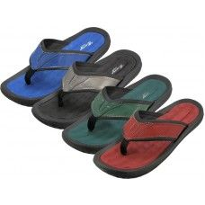 36 Units of Men's Soft Comfortable Gel Insole Thong Sandals - Men's Flip Flops and Sandals