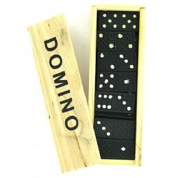 90 Units of Domino Set In Wooden Box - Dominoes & Chess