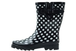12 Units of Ladies' Rubber Rain Boots (9 Inches Tall) - Women's Boots