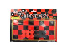 108 Units of Toy Checkerboard With Checkers - Dominoes & Chess