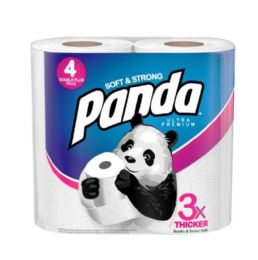 6 Units of Panda Ultra Bath Tissue 176 Sheets 2 Ply 4 pk - Toilet Paper Holders