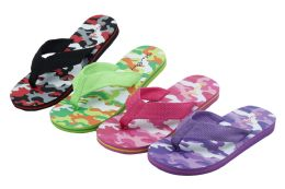 48 Units of Girl's Sandals Assorted Colors Sizes 11-4 - Girls Flip Flops