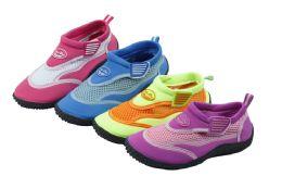36 Units of Kid's Aqua Socks Assorted Colors - Unisex Footwear