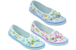 36 Units of Ladies' Canvas Shoes Assorted Colors - Women's Sneakers