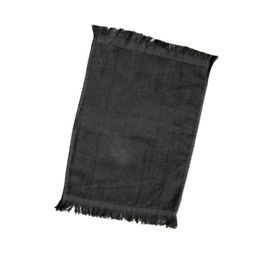 240 Units of Fingertip Towel Fringed Ends In Black - Towels