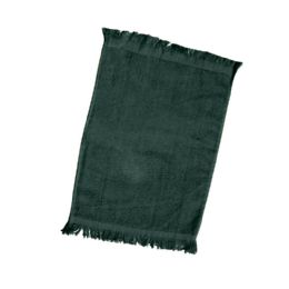 240 Units of Fingertip Towel Fringed Ends In Forest Green - Towels