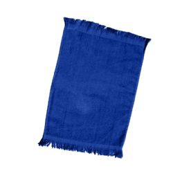 240 Units of Fingertip Towel Fringed Ends In Navy - Towels