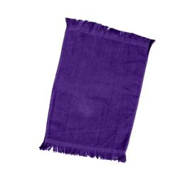240 Units of Fingertip Towel Fringed Ends In Purple - Towels