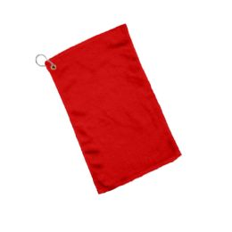 240 Units of Fingertip Towel Hemmed Ends Corner Grommeted And Hook In Red - Towels