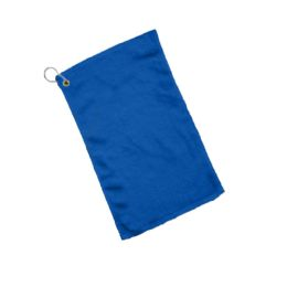 240 Units of Fingertip Towel Hemmed Ends Corner Grommeted And Hook In Royal - Towels