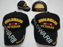24 Units of World War Ii Veteran Hat Large Letters - Military Caps
