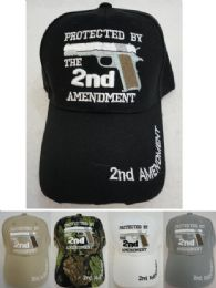 24 Units of Protected By The 2nd Amendment Hat - Military Caps