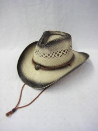 36 Units of Western Black Rimmed Cow Boy Hat - Cowboy & Boonie Hat