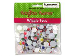 72 Units of Krafters Korner Wiggly Eyes - Craft Tools