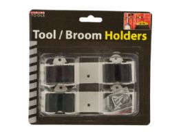 36 Units of Wall Mount Tool & Broom Holders - Safety Helmets