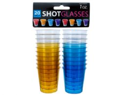 72 Units of 1 Oz. Clear Plastic Shot Glasses - Disposable Cups