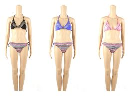 48 Units of Womans Printed 2 piece Bathing Suit - Womens Swimwear