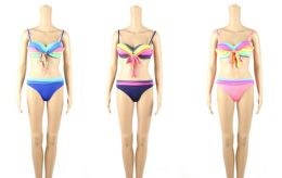 48 Units of Womans Assorted Solid Color 2 piece Bathing Suit - Womens Swimwear