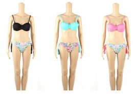 48 Units of Womans Assorted Printed With Bow 2 piece Bathing Suit - Womens Swimwear
