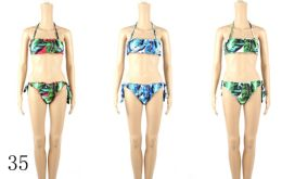 24 Units of Womans Assorted Printed 2 piece Bathing Suit - Womens Swimwear