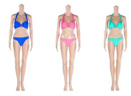 48 Units of Womans Assorted Color 2 piece Bathing Suit - Womens Swimwear