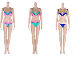 48 Units of Womans Assorted Two Tone 2 piece Bathing Suit - Womens Swimwear