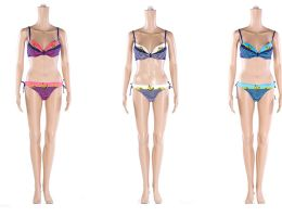 48 Units of Womans Assorted Printed 2 piece Bathing Suit - Womens Swimwear
