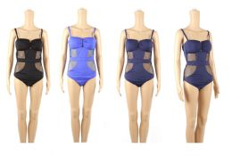 24 Units of Womans Fashion Solid Color One Piece Bathing Suit - Womens Swimwear