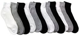 12 Pairs of Men Socks Ankle, Sport Athletic Low Cut No Show Socks (Assorted)
