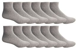 12 Pairs of Men Socks Ankle, Sport Athletic Low Cut No Show Socks (Gray) - Mens Ankle Sock