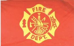 24 Units of Fire Department Flags - Flag