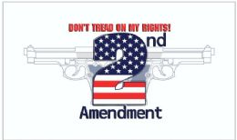 24 Units of Don't Tread on my Rights second amendment Flags - Flag