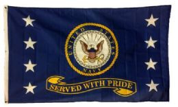 24 Units of Licensed US Navy Flags Served with Pride - Flag