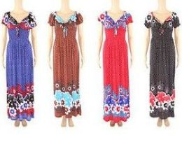 48 Units of Womens Fashion Summer Sun Dress In Assorted Sizes - Womens Sundresses & Fashion