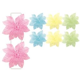 96 Units of Two Piece Decoration Flower With Clip Easter - Easter