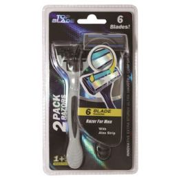 96 Units of Razor Men Two Count Six Blade - Shaving Razors