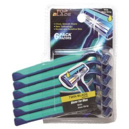 96 Units of Razor Men Six Pack Two Blade - Shaving Razors