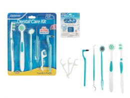 96 Units of 8 Piece Dental Care Kit - Toothbrushes and Toothpaste