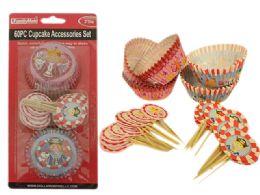 48 Units of 60 Piece Cupcake Decorating Set - Baking Supplies