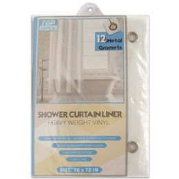 48 Units of Shower Curtain White - Shower Curtain