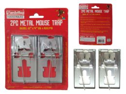 96 Units of 2 Piece Metal Mouse Traps And Rat Traps - Pest Control