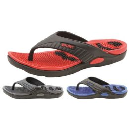 36 Units of Men's Massage Slipper 8-13 - Men's Flip Flops and Sandals
