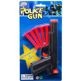 72 Units of Toy Gun With Five Piece Soft Darts On Blister Card - Toy Weapons