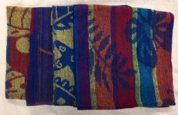 12 Units of Jacquard Beach Towel Economy Class - Beach Towels