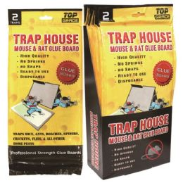 "72 Units of 2 Pack Mouse Glue Board 12x6"" - Pest Control"