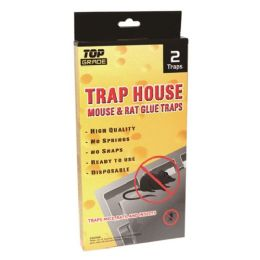 48 Units of 2 Pack Mouse Glue Trap 8.5x4.5 - Pest Control