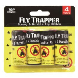 96 Units of 4 Pack Fly Glue Ribbon - Pest Control