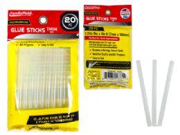 144 Units of 20 Piece Glue Gun Glue Sticks - Glue Office and School
