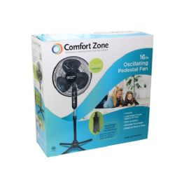 "4 Units of 16"" Black Floor Stand Fan - Electric Fans"