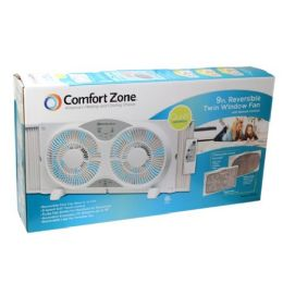 "2 Units of 9"" Twin window fan with/remote - Electric Fans"
